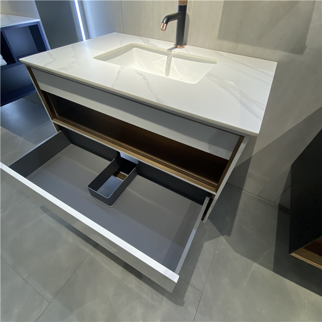 Marble Look Bathroom Vanity | D-6033