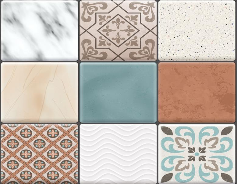 Ceramic Tile with Different Patterns